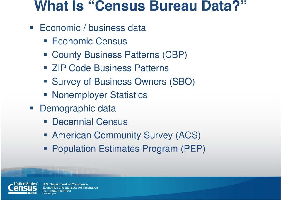 (CBP) ZIP Code Business Patterns Survey of Business Owners (SBO)