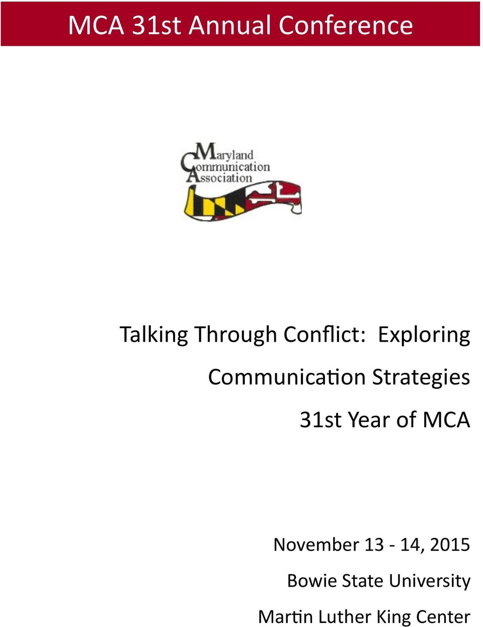 Strategies 31st Year of MCA November 13-14,
