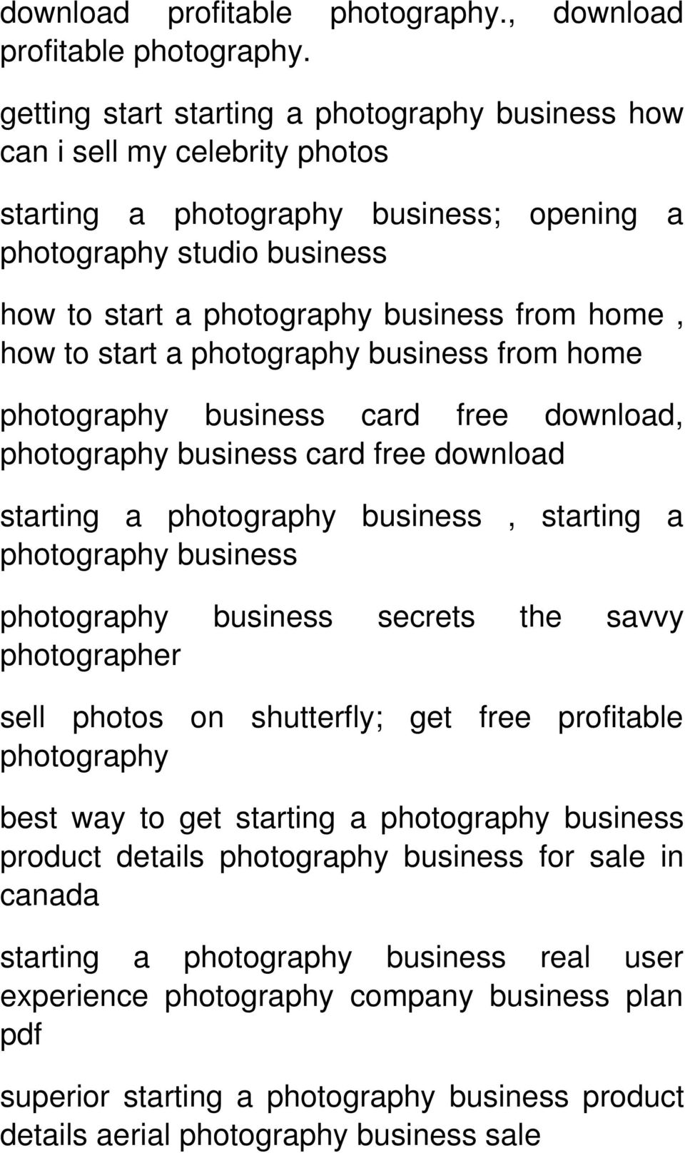 how to start a from home card free download, card free download starting a, starting a secrets the savvy photographer sell photos on