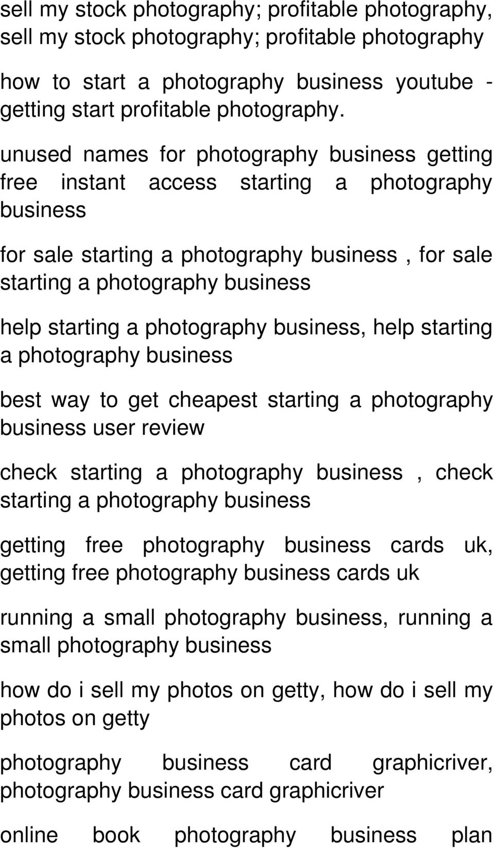 unused names for getting free instant access starting a photography business for sale starting a, for sale starting a help starting a, help starting a