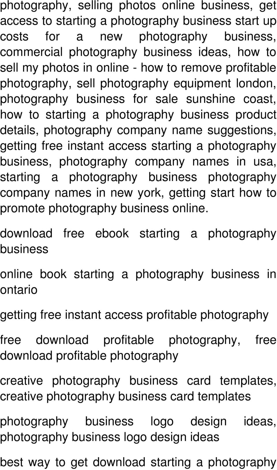 the business of photography pdf