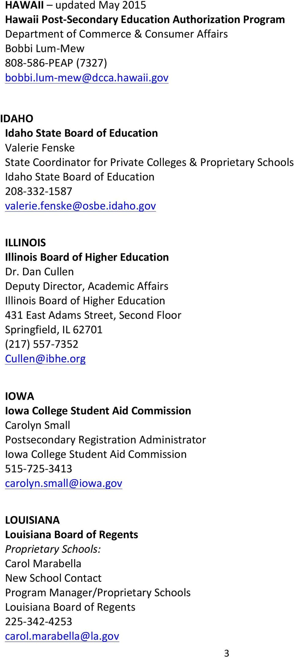 gov ILLINOIS Illinois Board of Higher Education Dr.