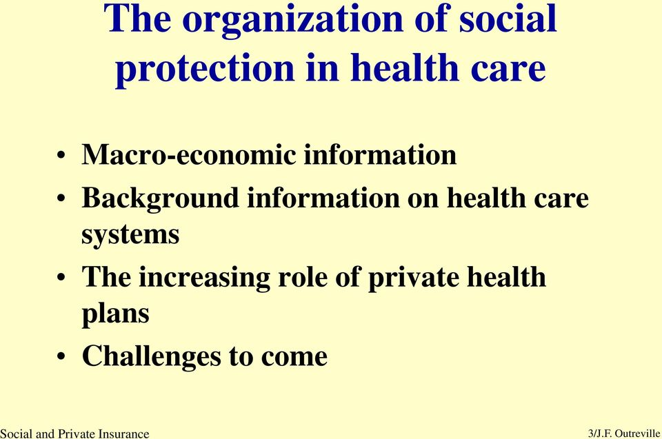 information on health care systems The increasing