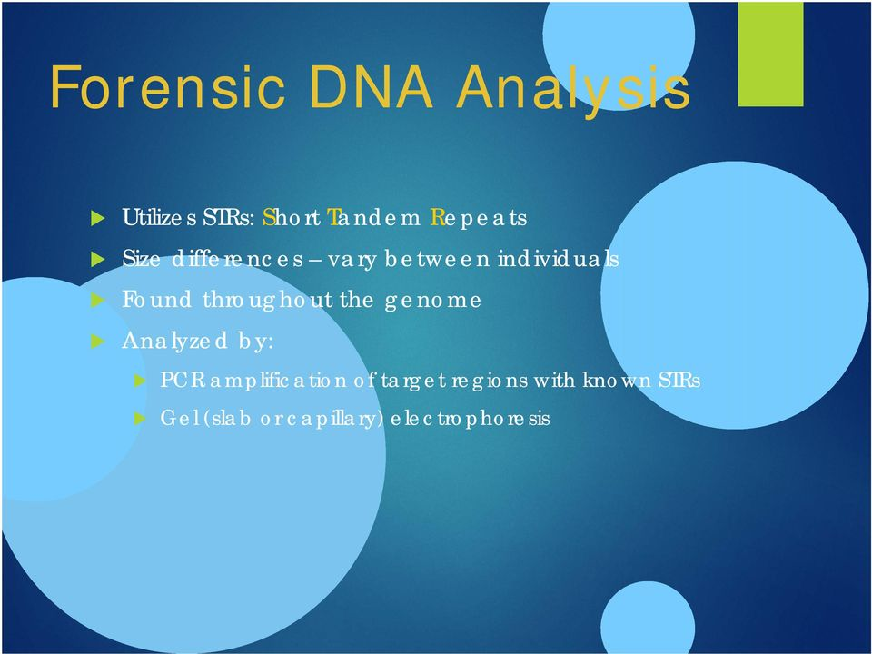 throughout the genome Analyzed by: PCR amplification of