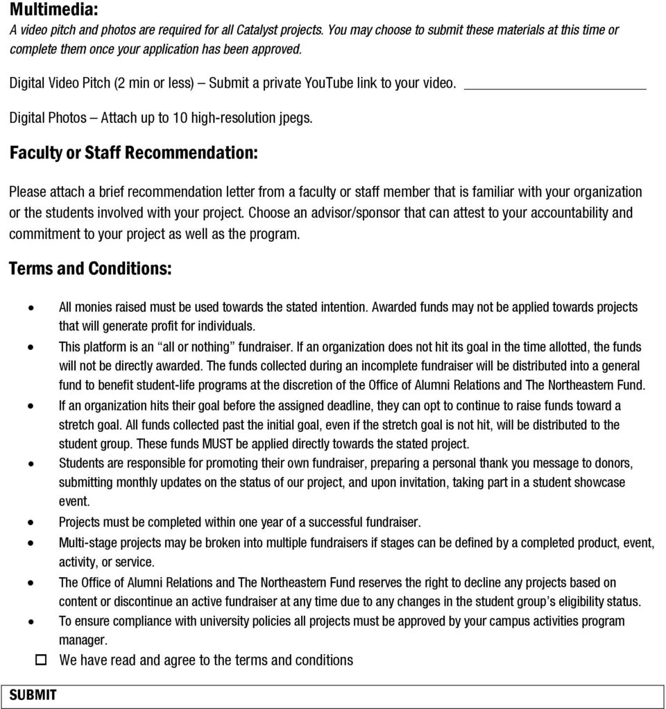 Faculty or Staff Recommendation: Please attach a brief recommendation letter from a faculty or staff member that is familiar with your organization or the students involved with your project.