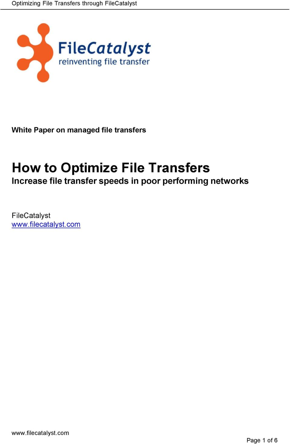 Increase file transfer speeds in poor