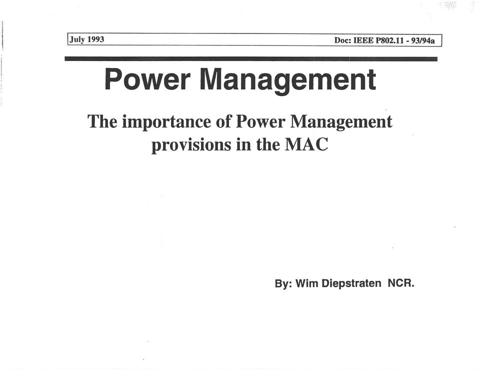 importance of Power Management