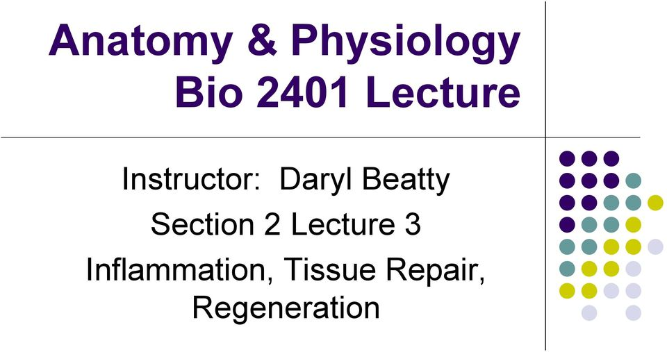 Beatty Section 2 Lecture 3