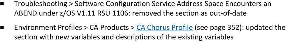 11 RSU 1106: removed the section as out-of-date Environment Profiles > CA