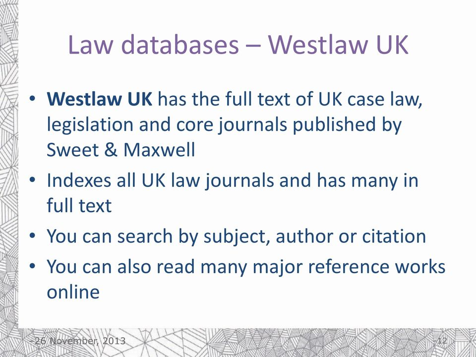 UK law journals and has many in full text You can search by subject,