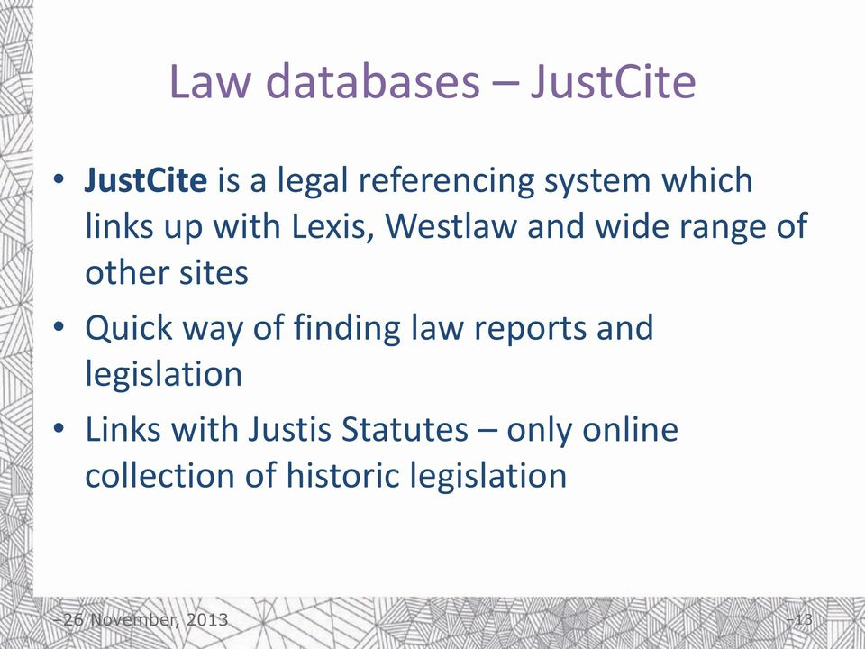 sites Quick way of finding law reports and legislation Links