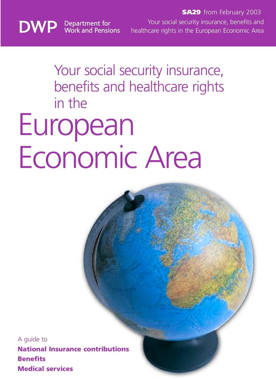 insurance, benefits and healthcare rights in the European Economic