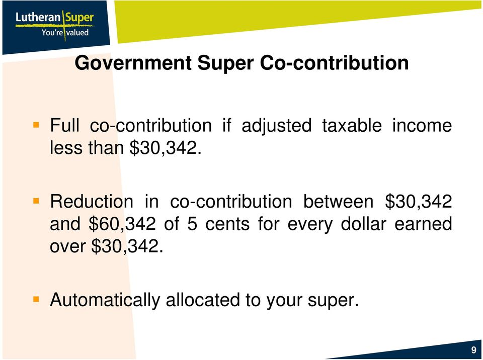 Reduction in co-contribution between $3,342 and $6,342 of 5