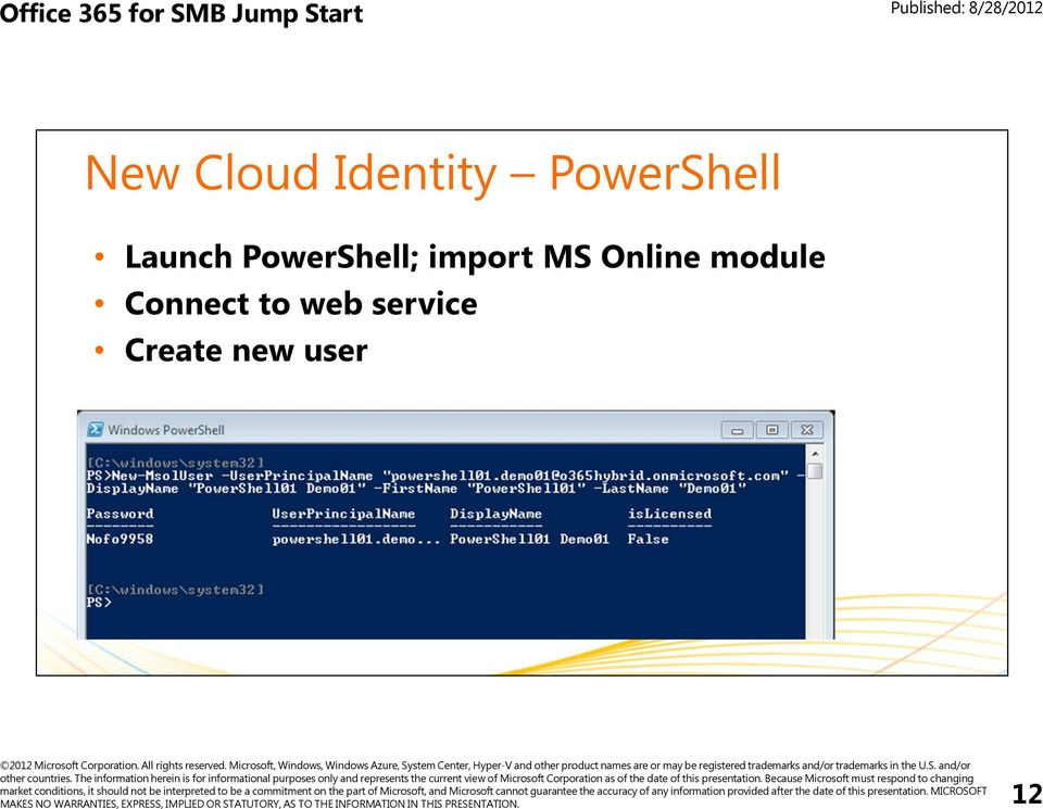 PowerShell; import MS Online