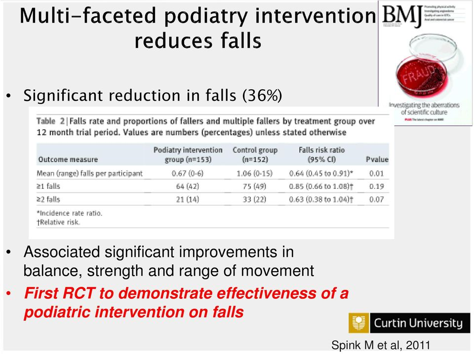 range of movement First RCT to demonstrate