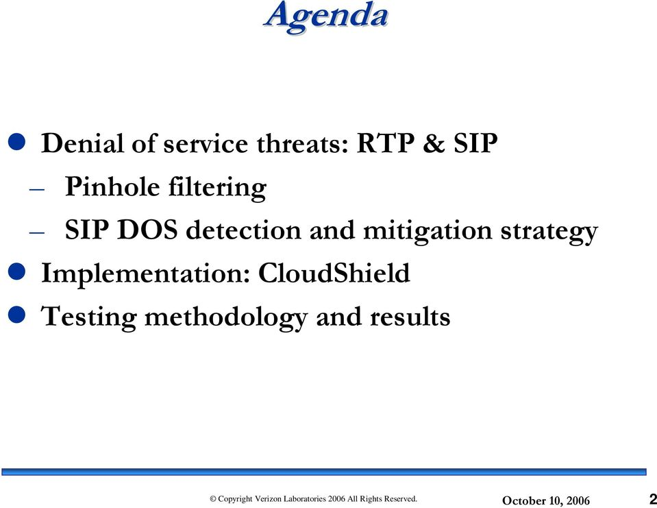 and mitigation strategy Implementation:
