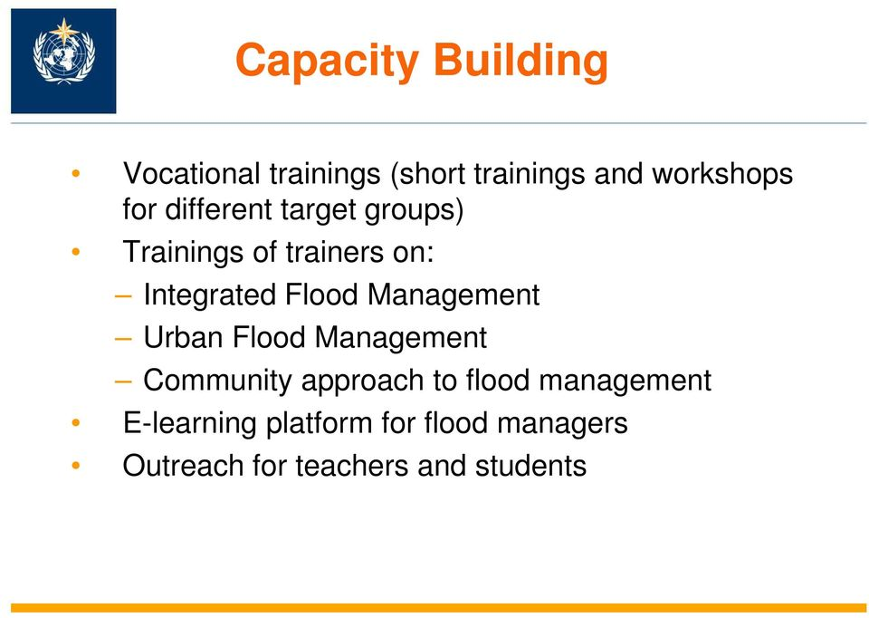 Management Urban Flood Management Community approach to flood
