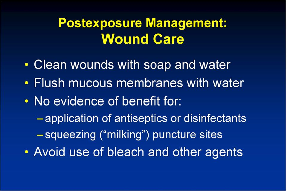 benefit for: application of antiseptics or disinfectants