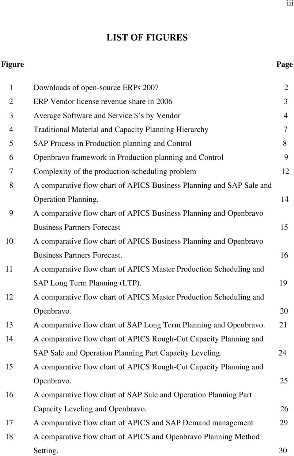 flow chart of APICS Business Planning and SAP Sale and Operation Planning.