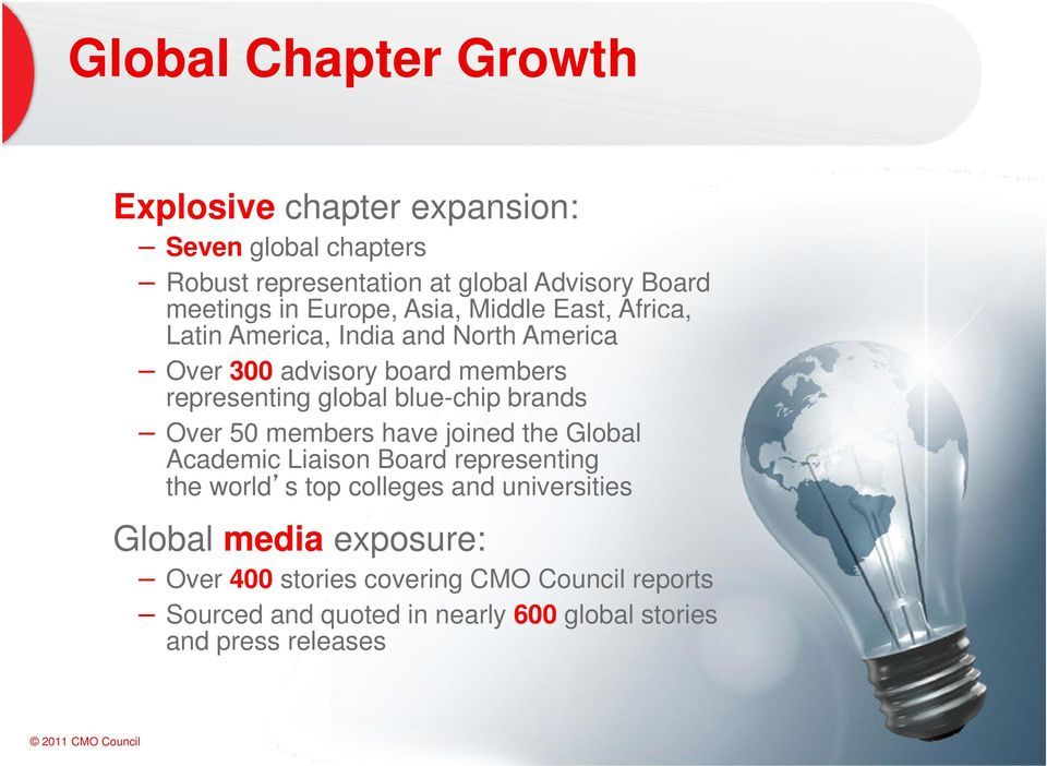 blue-chip brands Over 50 members have joined the Global Academic Liaison Board representing the world s top colleges and