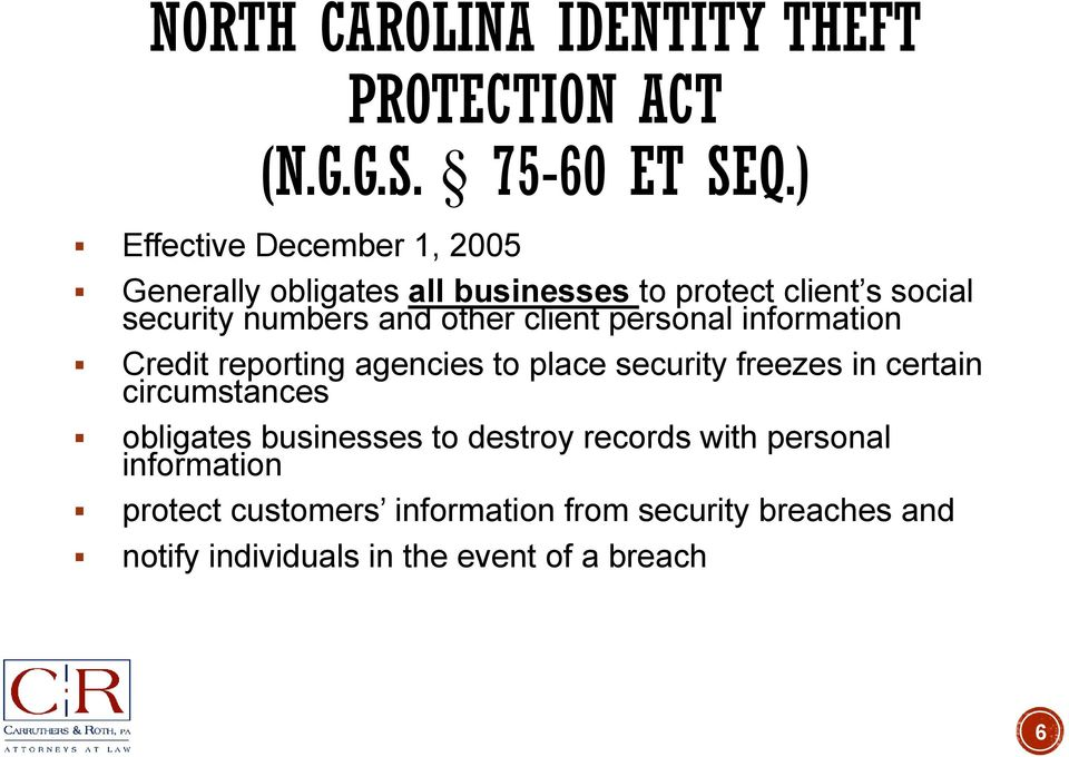 other client personal information Credit reporting agencies to place security freezes in certain circumstances