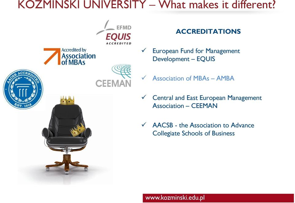Association of MBAs AMBA Central and East European Management