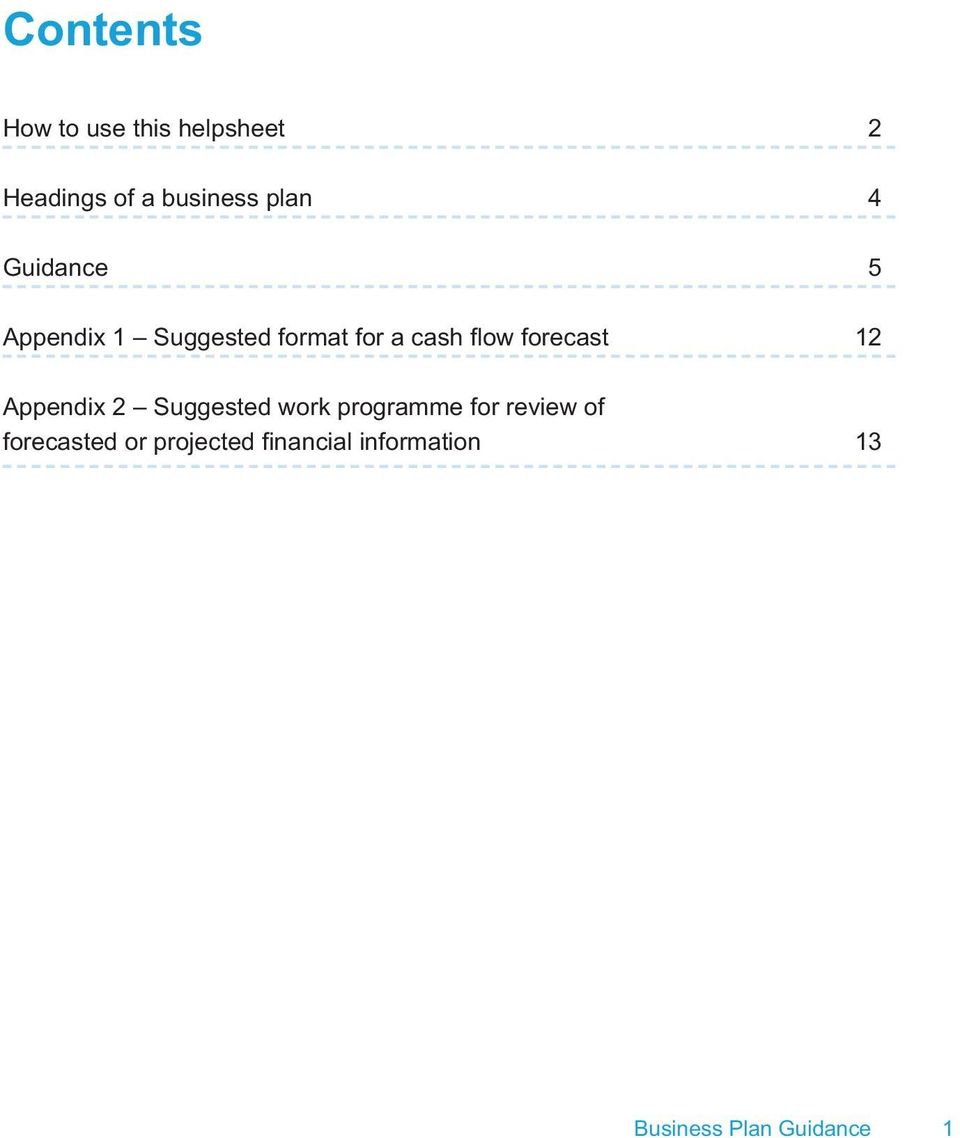 forecast 12 Appendix 2 Suggested work programme for review of