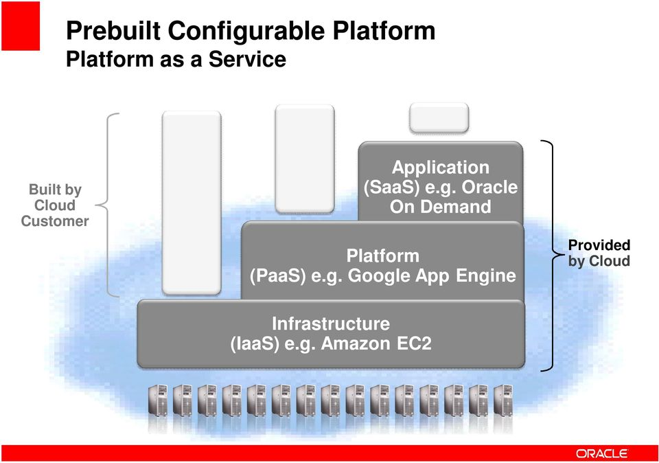 Oracle On Demand Platform (PaaS) e.g.