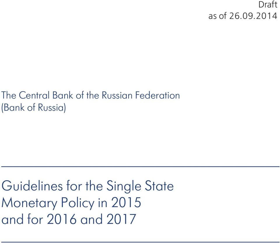 Federation (Bank of Russia) Guidelines