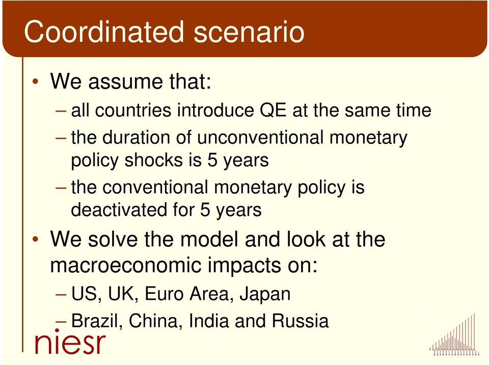 conventional monetary policy is deactivated for 5 years We solve the model and