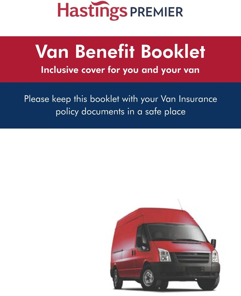 keep this booklet with your Van