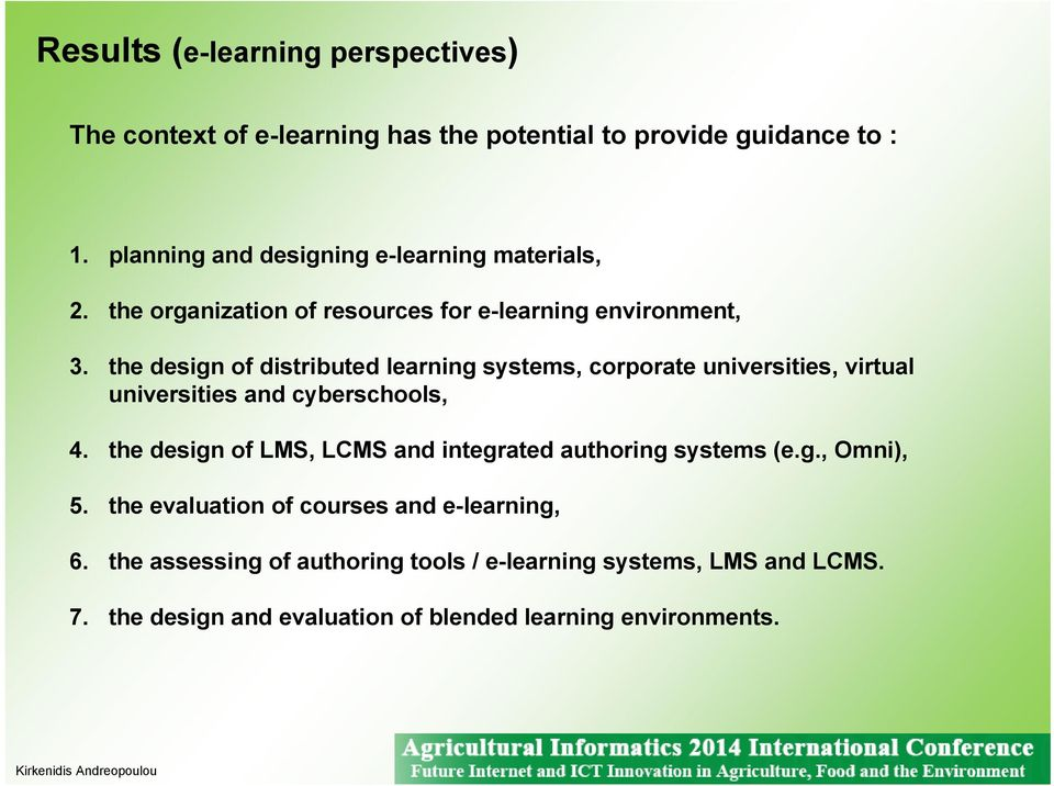 the design of distributed learning systems, corporate universities, virtual universities and cyberschools, 4.