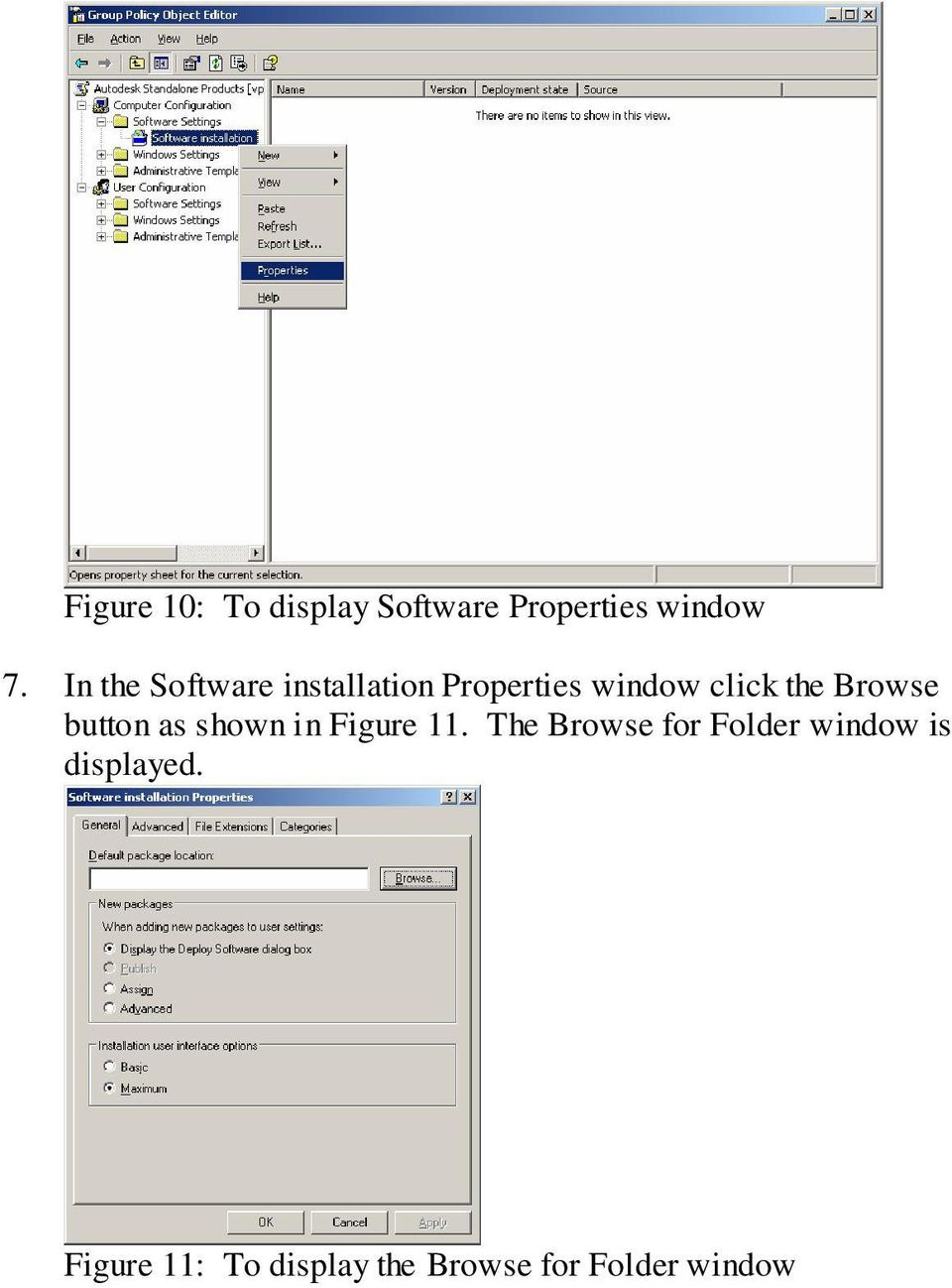 Browse button as shown in Figure 11.