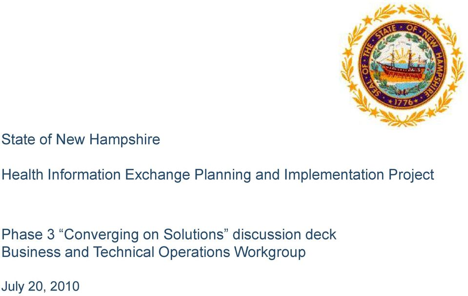Phase 3 Converging on Solutions discussion deck