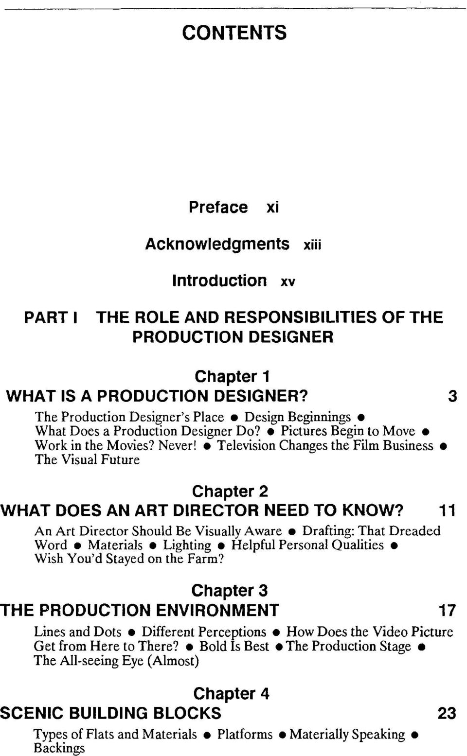 Television Changes the Film Business The Visual Future Chapter 2 WHAT DOES AN ART DIRECTOR NEED TO KNOW?