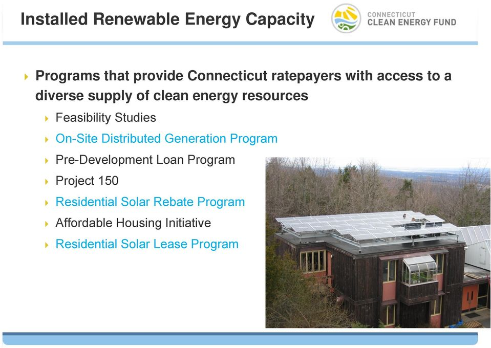 On-Site Distributed Generation Program Pre-Development Loan Program Project 150