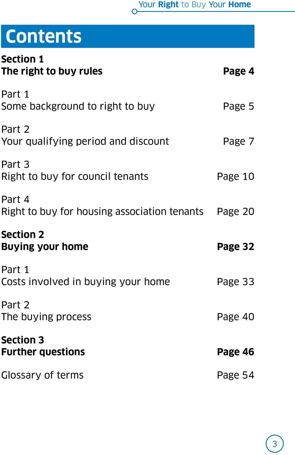 Right to buy for housing association tenants Page 20 Section 2 Buying your home Page 32 Part 1 Costs involved in