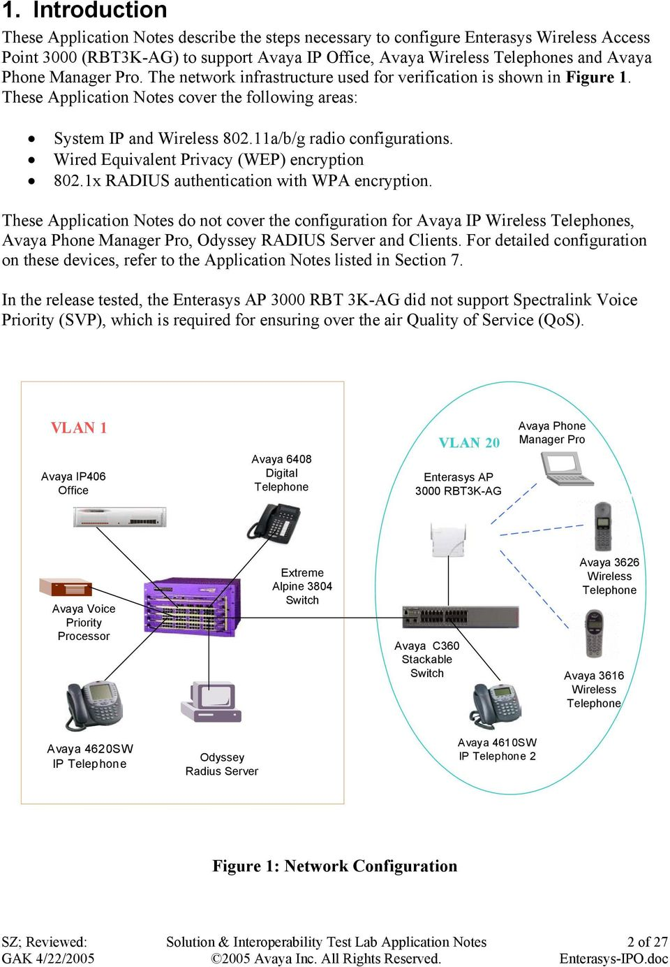 Wired Equivalent Privacy (WEP) encryption 802.1x RADIUS authentication with WPA encryption.