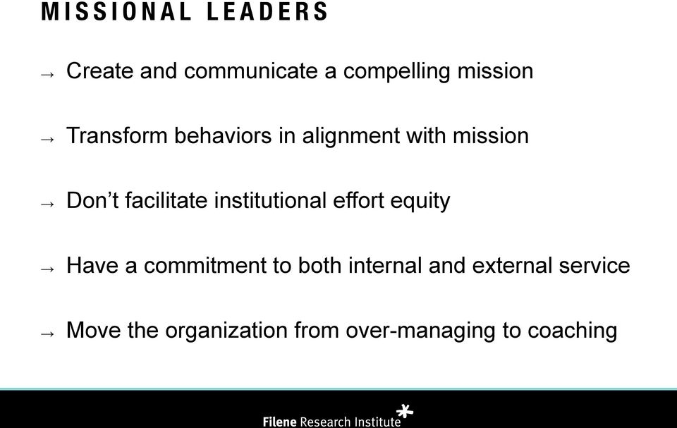 institutional effort equity Have a commitment to both internal