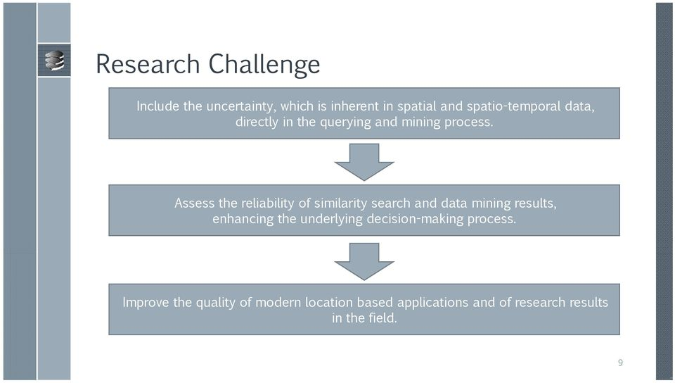 Assess the reliability of similarity search and data mining results, enhancing the