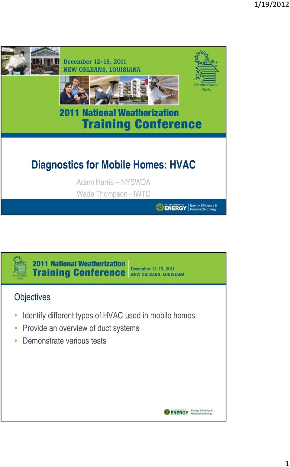 different types of HVAC used in mobile homes