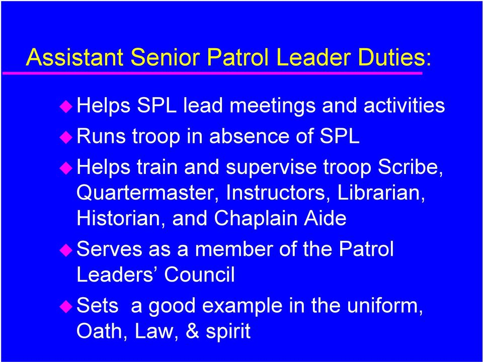 Quartermaster, Instructors, Librarian, Historian, and Chaplain Aide Serves as a