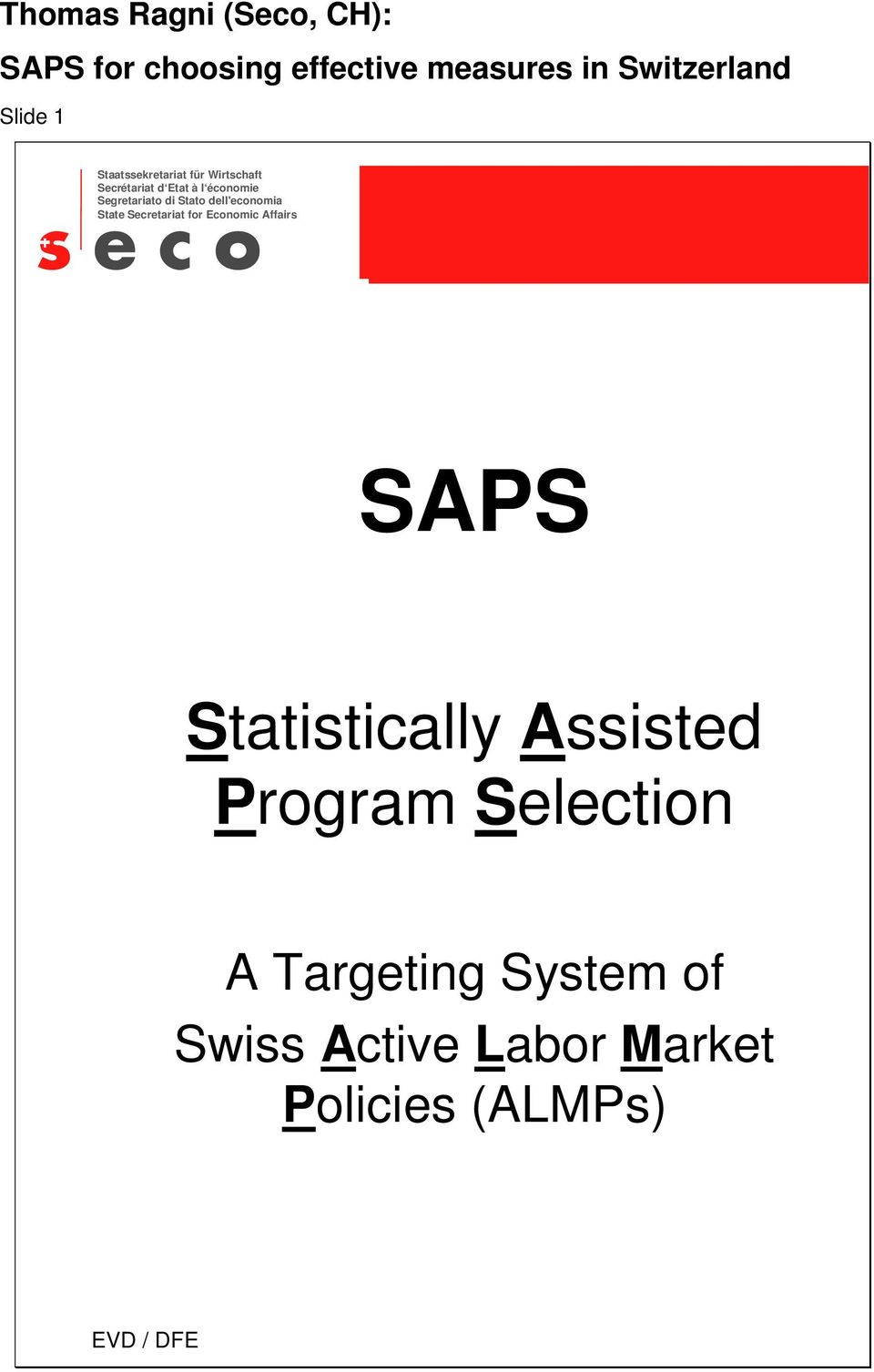 Statistically Assisted Program Selection A