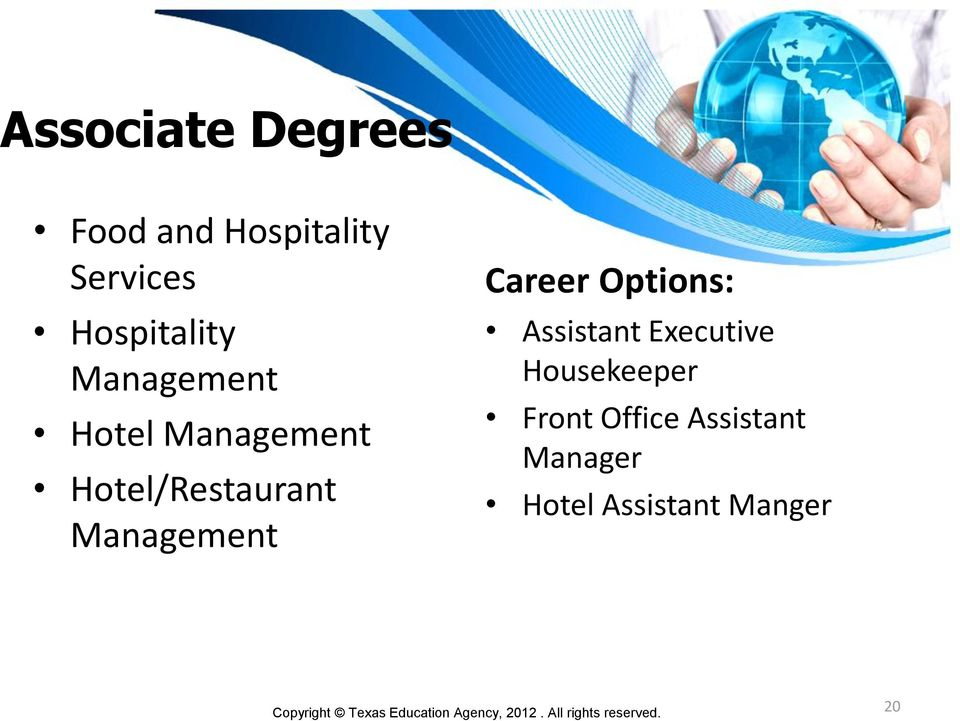 Career Options: Assistant Executive