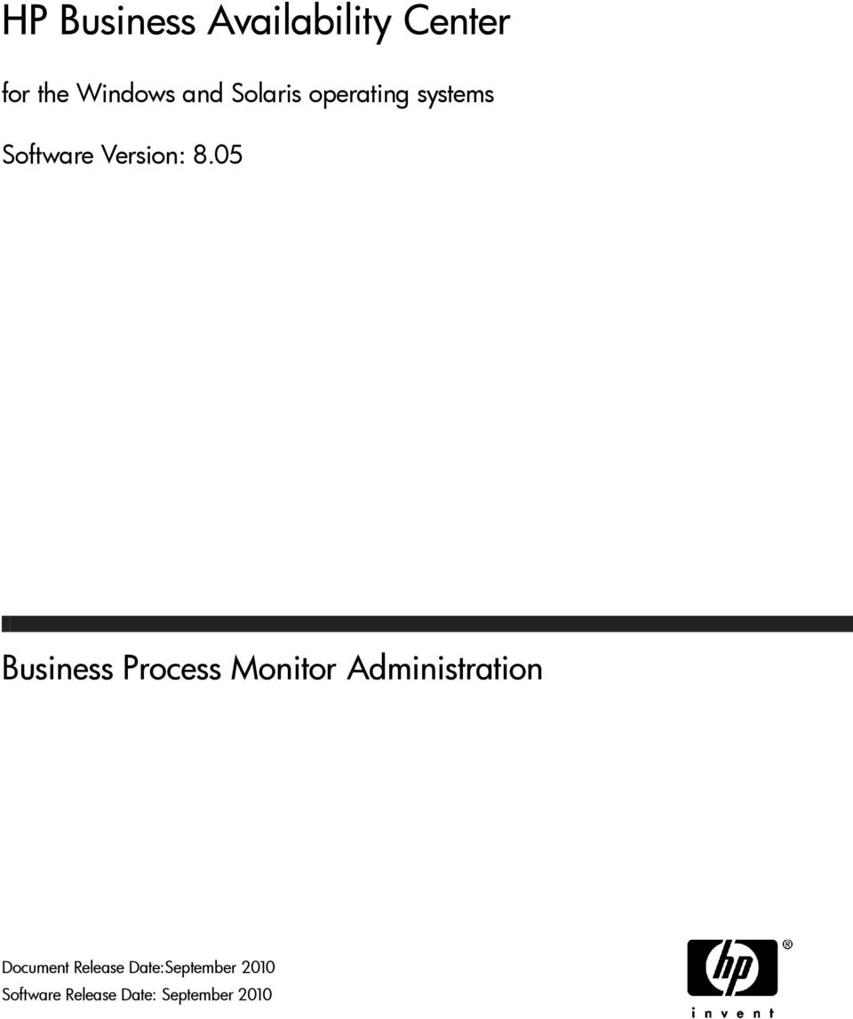 05 Business Process Monitor Administration Document