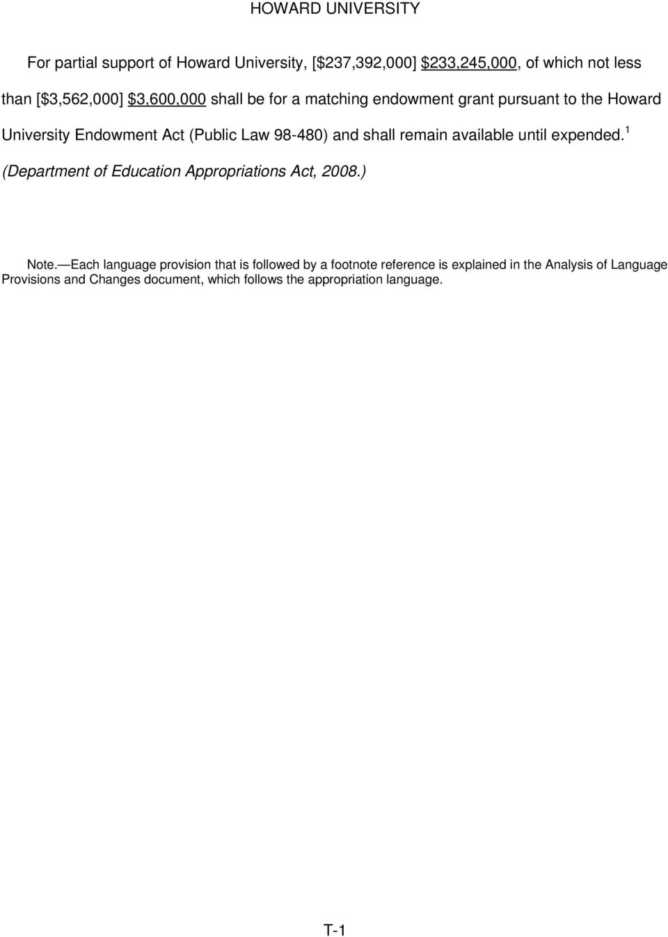 expended. 1 (Department of Education Appropriations Act, 2008.) Note.