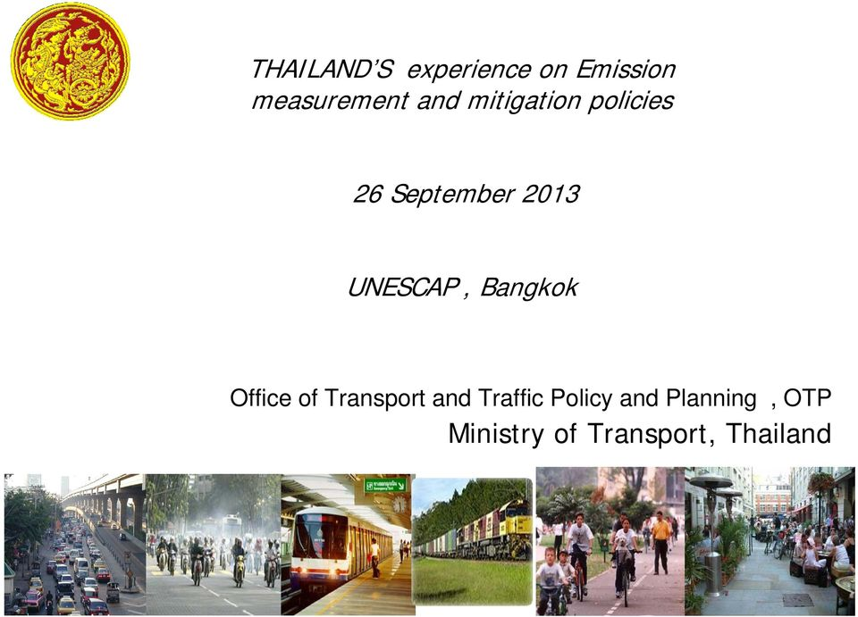 UNESCAP, Bangkok Office of Transport and Traffic