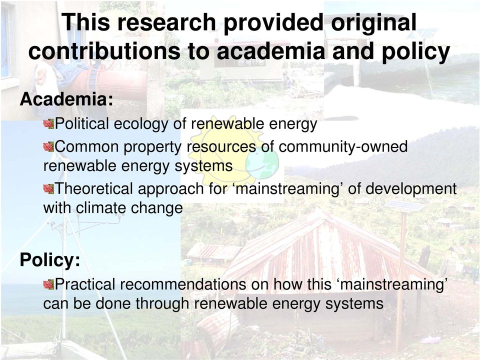 systems Theoretical approach for mainstreaming of development with climate change Policy: