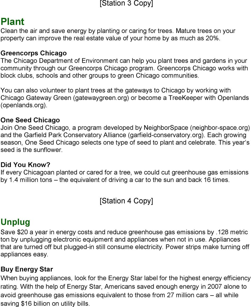 Greencorps Chicago works with block clubs, schools and other groups to green Chicago communities.