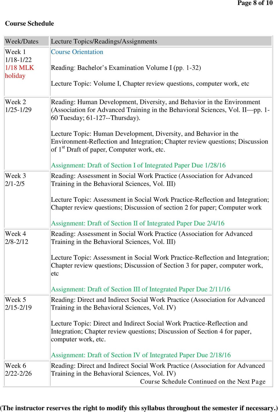 Sciences, Vol. II pp. 1-60 Tuesday; 61-127--Thursday).